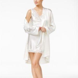 Satin Short Wrap Robe